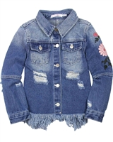 Deux par Deux Distressed Denim Jacket Unicorn Hype