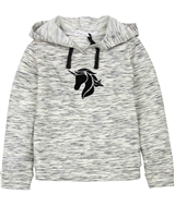 Deux par Deux Terry Hoodie in Black Unicorn Hype