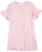 Deux par Deux Striped Dress in Pink Unicorn Hype