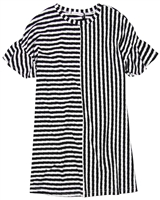 Deux par Deux Striped Dress in Black Unicorn Hype