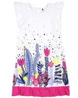 Deux par Deux Printed Jersey Dress Flower Fields