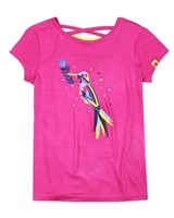 Deux par Deux T-shirt with Print in Fuchsia Flower Fields