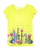 Deux par Deux T-shirt with Print in Yellow Flower Fields