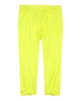 Deux par Deux Capri Leggings in Yellow Flower Fields