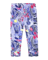 Deux par Deux Printed Capri Leggings Flower Fields
