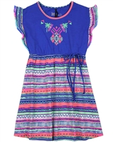 Deux par Deux Ethnic Print Dress Coco Palms
