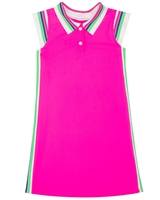 Deux par Deux Athletic Dress in Fuchsia Coco Palms