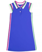Deux par Deux Athletic Dress in Blue Coco Palms