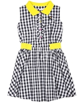 Deux par Deux Plaid Dress with Collar Zest of Lemon