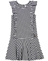 Deux par Deux Striped Jersey Dress Zest of Lemon