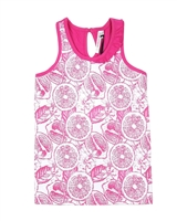 Deux par Deux Printed Tank Top Zest of Lemon