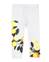 Deux par Deux Capri Leggings with Print Zest of Lemon