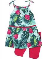 Deux par Deux Watermelon Print Tunic and Biker Shorts Set The Cockatoo Edit