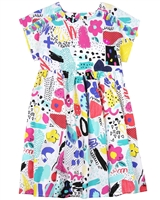 Deux par Deux Printed Dress The Artist!