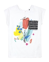 Deux par Deux White T-shirt with Chest Pocket The Artist!