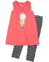Deux par Deux Tunic and Printed Leggings Set The Artist!