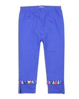Deux par Deux Blue Capri Leggings with Tassels The Artist!