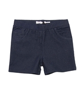 Deux par Deux Jeggings Shorts in Navy