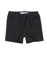 Deux par Deux Jeggings Shorts in Black