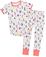 Deux par Deux Pyjamas Set in Fruits Print