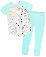 Deux par Deux Pyjamas Set with Unicorn Print