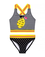 Deux par Deux Stripes and Lemon Tankini Splish Splash