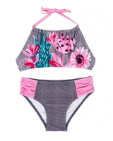 Deux par Deux Bikini with Cactus Flowers Splish Splash