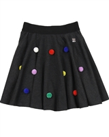 Deux par Deux Herringbone Skirt Pompom Girls
