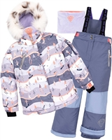 Deux par Deux Girls' 2-Piece Snowsuit Skiing In Courchevel