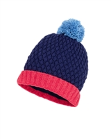 Deux par Deux Girls Beanie Hat Frozen Jungle in Blue