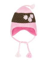 Deux par Deux Girls Hat Frozen Jungle in Pink