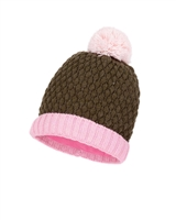 Deux par Deux Girls Beanie Hat Frozen Jungle in Olive