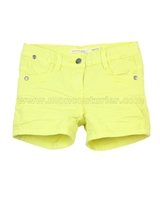 Deux par Deux Color Denim Shorts Yellow