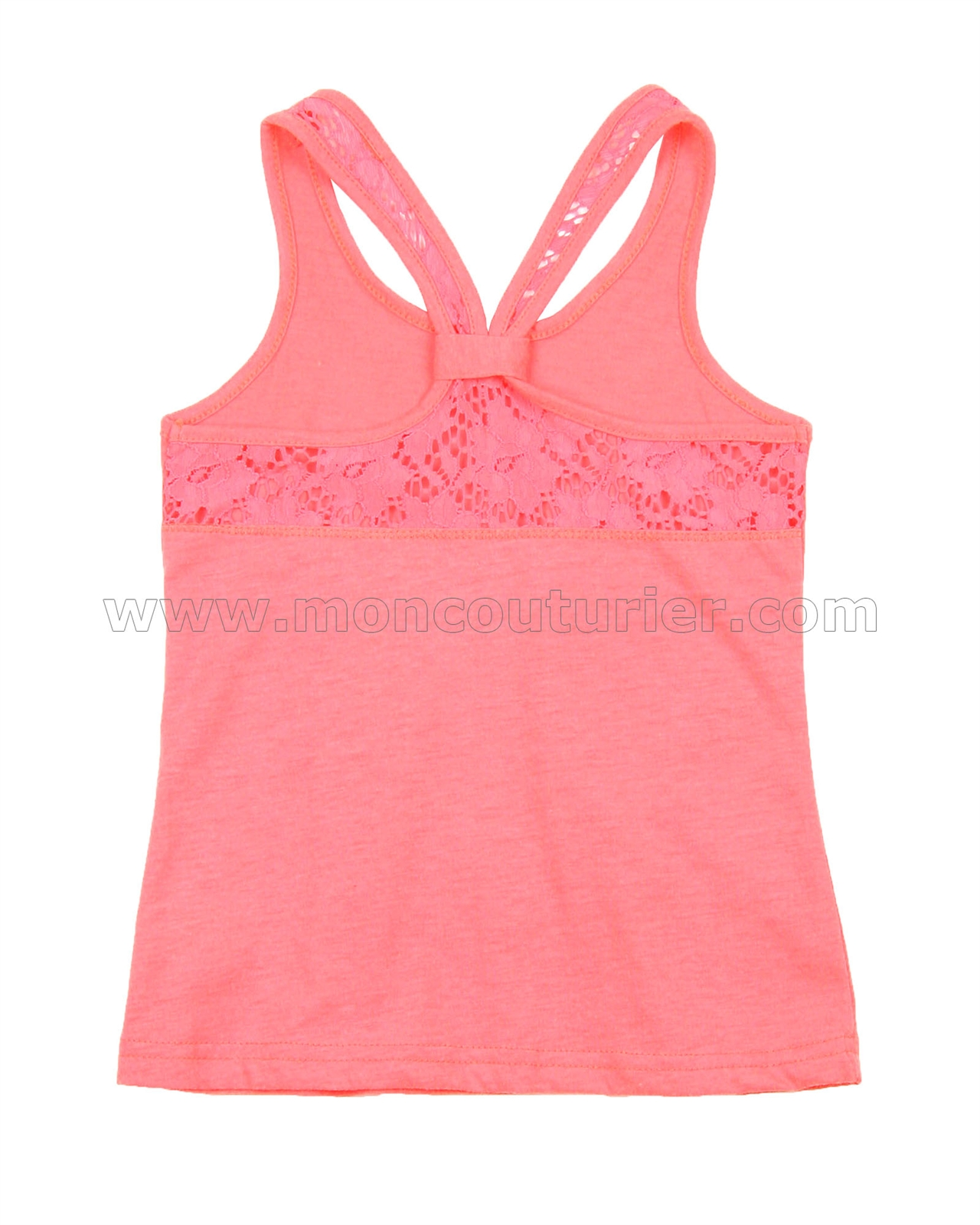 Sizes 2-12 Deux par Deux Girls Neon Tank Top Coral
