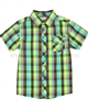 Deux par Deux Boys Plaid Shirt Puff Doggy