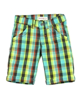 Deux par Deux Boys Plaid Shorts Puff Doggy