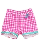 Deux par Deux Plaid Shorts with Lace Trim