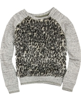 Dress Like Flo Faux Fur Sweatshirt