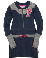 Dress Like Flo Baseball Style Sweatshirt Dress