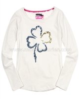 Dress Like Flo T-shirt with Sequin Flower