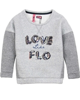 Dress Like Flo Sweatshirt with Sequin Appique