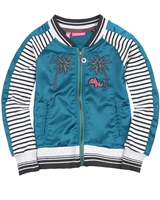 Dress Like Flo Satin Bomber Jacket