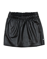 Dress Like Flo Pleather Skirt Black