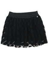 Dress Like Flo Dotted Mesh Skirt