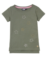 Dress Like Flo T-shirt with Stars in Olive