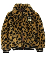 Dress Like Flo Fake Fur Bomber Jacket