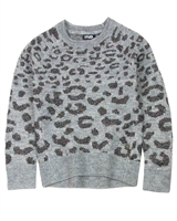 Dress Like Flo Animal Print Sweater with Lurex