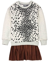 Dress Like Flo Spot Print Sweatshirt Dress