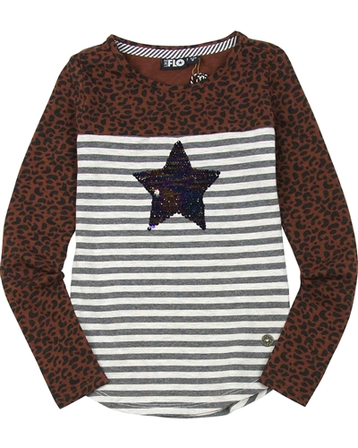 Dress Like Flo T-shirt with Sequin Star