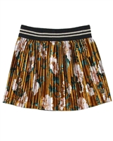 Dress Like Flo Velour Floral Print Skirt